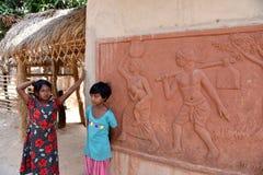 Künstlerisches Dorf in Bolpur Stockfotografie
