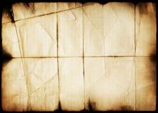 Künstlerisches gebranntes grunge Papier Stockfotos
