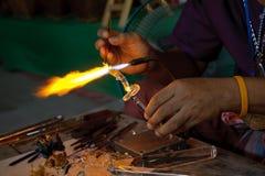 Künstlerisches Glassblowing Lizenzfreies Stockfoto