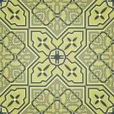 Künstlerisches grünes nahtloses Muster Stockbild