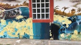 Künstlerisches Haus der Schildkröte Stockbild