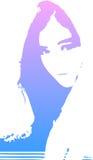 Künstlerisches Mädchen Lizenzfreie Stockbilder