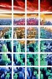 Künstlerisches Mosaik New- Yorkstadtbilds stockfotografie