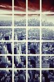 Künstlerisches Mosaik New- Yorkstadtbilds lizenzfreie stockbilder