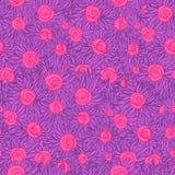 Künstlerisches nahtloses Muster mit gemalten Blumen (Rosen), Blumeni Lizenzfreie Stockbilder
