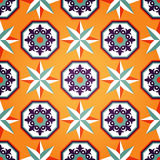 Künstlerisches orange nahtloses Muster Stockbilder