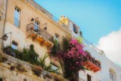 Künstlerisches Straßenfoto in Valletta Stockfoto