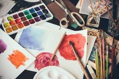 Künstlerisches Studio Stockbilder