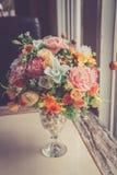 Künstliche Blume der bunten Dekoration lizenzfreies stockfoto