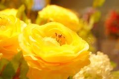 Künstliche Blumen, sehr lebensecht stockfoto