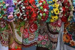 Künstliche Blumen und Beschaffenheitsmuster stockbild