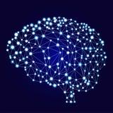 Künstliche Fahne der neuralen Netze Eine Form von Connectionism ANNs Computing-Systeme spornten durch die biologischen Gehirnnetz Stockbilder