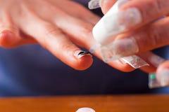 Künstliche Fingernägel lizenzfreies stockfoto