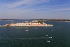 Künstliche Insel zwischen Venedig und Adria Lizenzfreies Stockbild