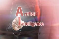 Künstliche Intelligenz, die Konzept zeigt Lizenzfreies Stockbild