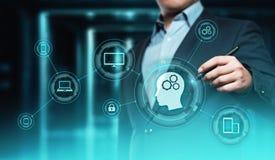 Künstliche Intelligenz Lernfähigkeit- einer Maschinegeschäfts-Internet-Technologie-Konzept lizenzfreies stockbild