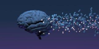Künstliche Intelligenz und Illustration des Maschinenlernkonzepts 3D lizenzfreie stockfotos
