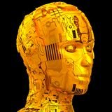 Künstliche Intelligenz und Robotik Stockfotografie