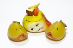 Künstliche keramische Frucht lizenzfreies stockfoto