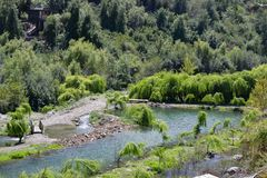 Künstliche Lagunen für die Fischerei lizenzfreie stockbilder