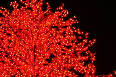 Künstliche Leuchte-Bäume Stockfotos