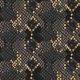 Künstliche nahtlose Vektorbeschaffenheit der Schlangenhaut Stockbild