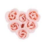 Künstliche rosafarbene Rosen Stockfoto