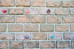 Künstliche Steinwand Stockbild