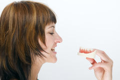 Künstliche und gesunde Zähne Lizenzfreie Stockfotografie