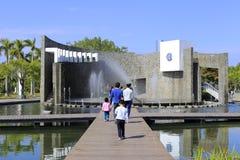 Künstlicher Brunnen Garten-Ausstellungsgartens Xiamens des internationalen, luftgetrockneter Ziegelstein rgb Stockfotografie