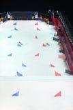 Künstlicher Hügel (50 Meter) für Snowboard-Weltcup Lizenzfreies Stockbild
