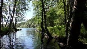 Künstlicher Kanal auf Solovki-islandMovement entlang dem künstlichen Kanal auf Solovetsky-Insel stock video footage