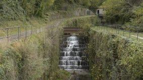 Künstlicher Kanal des Wasserspiegeles stock footage
