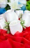 Künstlicher rosafarbener Blumenblumenstrauß Lizenzfreie Stockbilder