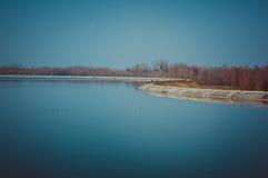 Künstlicher See stockfotografie