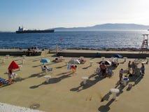 Künstlicher Strand Stockbild