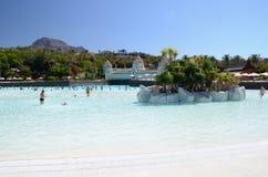 Künstlicher Strand in Siam Park in Costa Adeje auf Teneriffa Lizenzfreie Stockfotos
