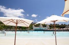 Künstlicher Strand in Siam Park in Costa Adeje auf Teneriffa Lizenzfreies Stockbild