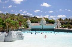 Künstlicher Strand in Siam Park in Costa Adeje auf Teneriffa Lizenzfreies Stockfoto