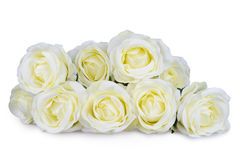 Künstlicher Weißrosenblumenstrauß Lizenzfreie Stockfotos