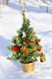 Künstlicher Weihnachtsbaum Stockfotografie