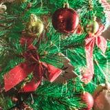 Künstlicher Weihnachtsbaum Stockfotos