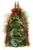 Künstlicher Weihnachtsbaum mit Süßigkeiten Stockfoto
