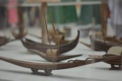 Künstliches Boot eins der ins Auge fallendsten Boote im Newport lizenzfreies stockfoto