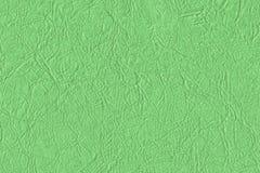 Künstliches Eco-Leder Kelly Green Crumpled Texture Sample Stockfotografie