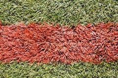 Künstliches Grasfußballnicken stockbilder