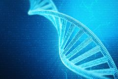 Künstliches intelegence DNA-Molekül Konzeptbinär code-Genom Abstrakte Technologiewissenschaft, Konzept künstliche DNA 3d vektor abbildung