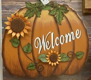 Kürbis alles würzt den Saison Herbst lizenzfreies stockbild