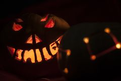 Kürbis auf Halloween Lizenzfreie Stockfotos