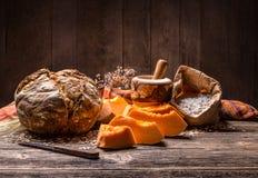 Kürbis-Brot stockfoto